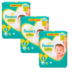 Pampers - Maxi Giga Pack 204 Couches New Baby - Premium Protection taille 2
