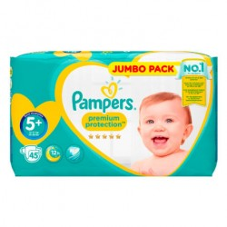 Pampers - Pack 45 Couches New Baby taille 5+ sur Couches Poupon