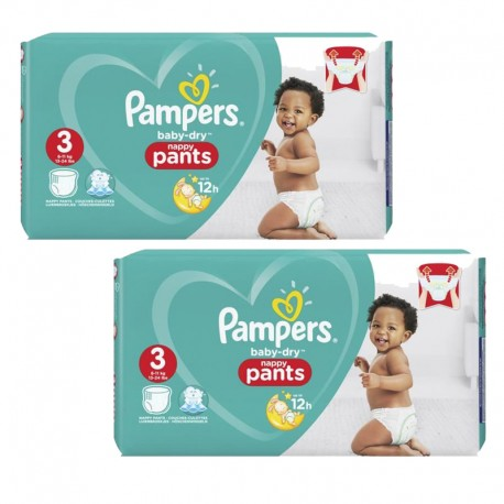 Giga Pack 160 Couches Pampers Baby Dry Pants sur Couches Poupon