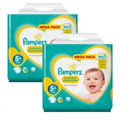 Maxi Giga Pack 270 couches Pampers New Baby Premium Protection sur Couches Poupon