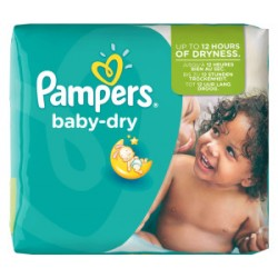 Pampers - Pack 25 Couches Baby Dry taille 5+ sur Couches Poupon