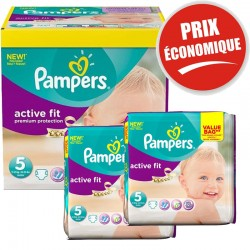 Pampers - Maxi Pack 376 Couches Active Fit taille 5