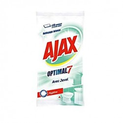 Ajax Lingettes par 50 Optimal 7 avec Javel sur Couches Poupon