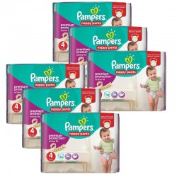 Pampers - Giga Pack 224 Couches Active Fit - Pants taille 4 sur Couches Poupon