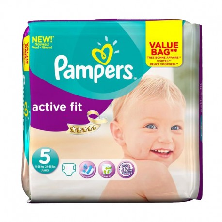 Pack 47 couches Pampers Active Fit sur Couches Poupon