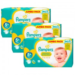 Pampers - Maxi Giga Pack 135 Couches New Baby - Premium Protection taille 5+