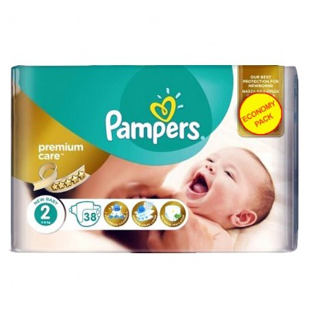 Pampers - Pack 38 Couches New Baby - Premium Care taille 2 sur Couches Poupon
