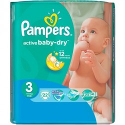 Pack 22 Couches Active Baby Dry sur Couches Poupon