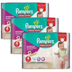Pampers - Giga Pack 128 Couches Active Fit - Pants taille 4
