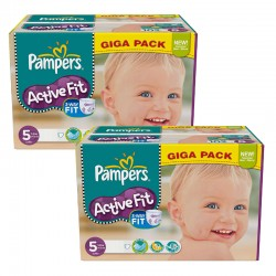 Pampers - Giga Pack 235 Couches Active Fit taille 5 sur Couches Poupon