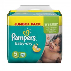 Pampers - Pack 72 Couches Baby Dry taille 5 sur Couches Poupon