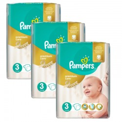 Pampers - Giga Pack 180 Couches Premium Care - Prima taille 3