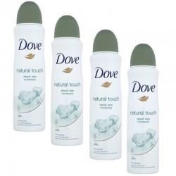 Lot de 4 Dove Deo 150 ml Natural Touch sur Couches Poupon