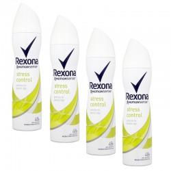Lot de 4 Rexona Deo 150 ml Motion Sense Stress Control sur Couches Poupon