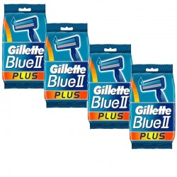 Lot de 4 Packs Gillette Blue3 Rasoirs Jetables 3 pièces sur Couches Poupon