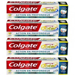 Colgate - Lot 4 Dentifrices Total Action en Profondeur sur Couches Poupon