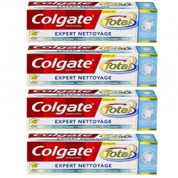 Colgate - Lot 4 Dentifrices Total Expert Nettoyage sur Couches Poupon