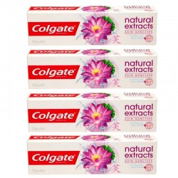 Colgate - Lot 4 Dentifrices Natural Extracts Soin Gencives sur Couches Poupon