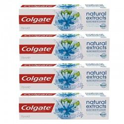 Lot de 4 Dentifrices Colgate 75 ml Natural Extracts Blancheur Eclatante sur Couches Poupon