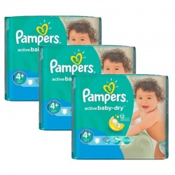 Pampers - Maxi Pack 192 Couches Active Baby Dry taille 4+