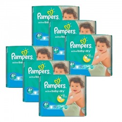 Pampers - Maxi Pack 288 Couches Active Baby Dry taille 4+ sur Couches Poupon