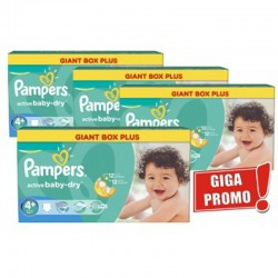 Pampers - Maxi Pack 576 Couches Active Baby Dry taille 4+