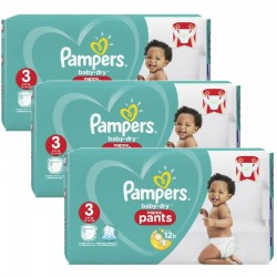 Pampers - Giga Pack 130 Couches Baby Dry Pants taille 3
