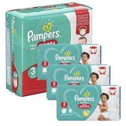 Pampers - Maxi Pack 390 Couches Baby Dry Pants taille 3