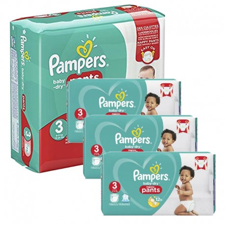 Pampers - Maxi Pack 390 Couches Baby Dry Pants taille 3 sur Couches Poupon