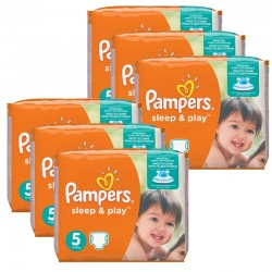 Pampers - Mega Pack 232 Couches Sleep & Play taille 5 sur Couches Poupon