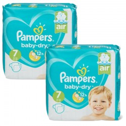 Pampers - Maxi Pack 115 Couches Baby Dry taille 7 sur Couches Poupon