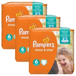Pampers - Mega Pack 120 Couches Sleep & Play taille 6