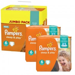 Pampers - Maxi Pack 150 Couches Sleep & Play taille 6