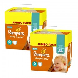 Pampers - Maxi Pack 210 Couches Sleep & Play taille 5