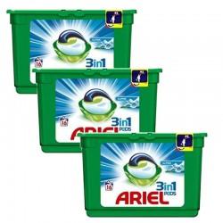 Lot de 3 Ariel Pods 16 Original 3in1 (454,4 gr) sur Couches Poupon