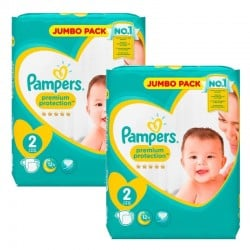 Pampers - 136 Couches new baby - premium protection sur Couches Poupon