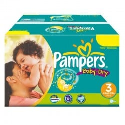 Pampers - Mega Pack 374 Couches Baby Dry taille 3