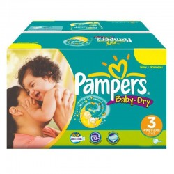 Maxi Giga Pack 374 Couches Pampers Baby Dry