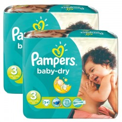 Pampers - Mega Pack 170 Couches Baby Dry taille 3 sur Couches Poupon