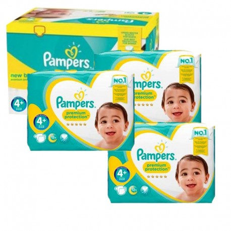 Maxi Giga Pack 248 couches Pampers New Baby Premium Protection sur Couches Poupon