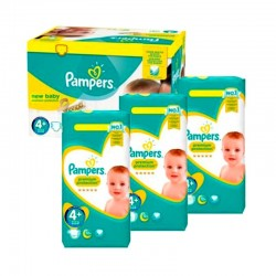 Pack Jumeaux 434 couches Pampers New Baby Premium Protection sur Couches Poupon