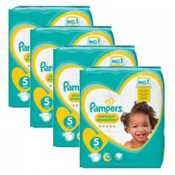 Maxi Giga Pack 240 couches Pampers New Baby Premium Protection sur Couches Poupon