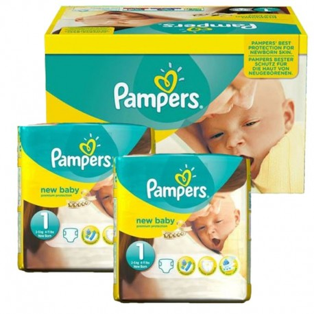 Mega Pack 138 couches Pampers New Baby Premium Protection sur Couches Poupon
