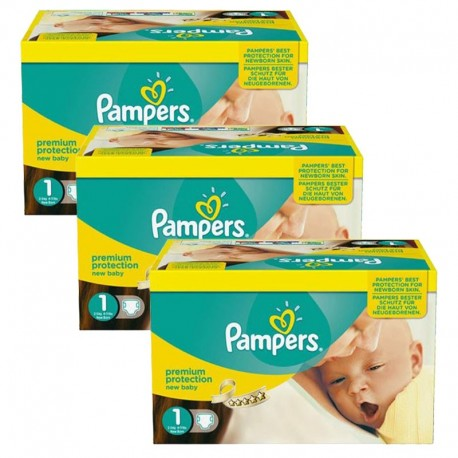 Pack Jumeaux 506 couches Pampers New Baby Premium Protection sur Couches Poupon