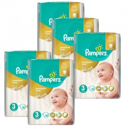 Pampers - Giga Pack 140 Couches Premium Care - Prima taille 3