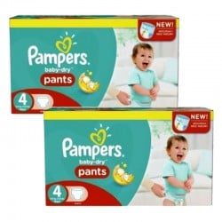Pack Jumeaux 564 couches Pampers Baby Dry Pants sur Couches Poupon