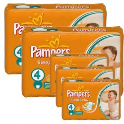 Mega Pack 324 couches Pampers Sleep & Play sur Couches Poupon