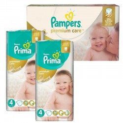 Pampers - Extra Pack 120 Couches Premium Care - Prima taille 4 sur Couches Poupon
