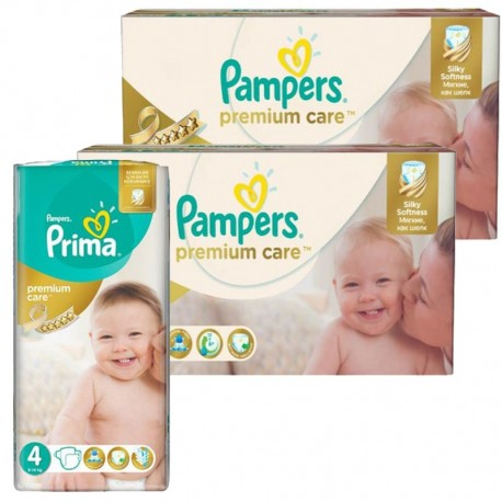 Pampers - Maxi Pack 320 Couches Premium Care - Prima taille 4 sur Couches Poupon