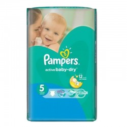 Pack 88 couches Pampers Active Baby Dry sur Couches Poupon